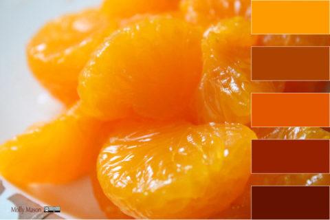 Les mandarines en rouge
