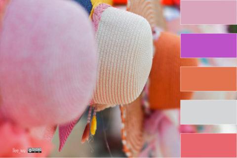 Chapeaux de nuances violettes